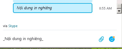 go-chu-in-nghieng-trong-skype